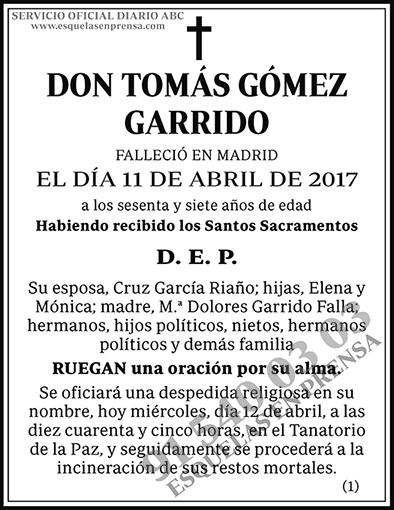 Tomás Gómez Garrido